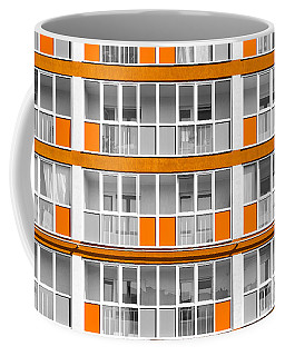 Orange Exterior Decoration Details Of Modern Flats Coffee Mug