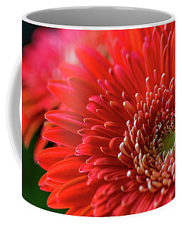 Coffee Mug featuring the photograph Orange Gerbera by Clare Bambers