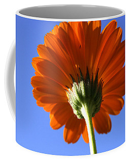 Orange Gerbera Flower Coffee Mug by Ralph A  Ledergerber-Photography