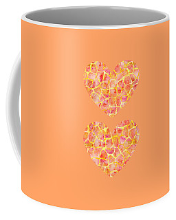 Orange Giraffe Print Coffee Mug