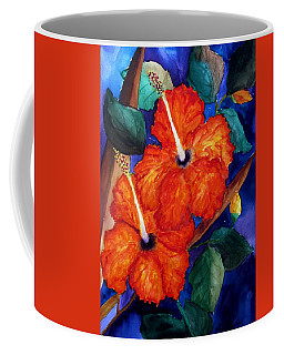 Orange Hibiscus Coffee Mug by Lil Taylor