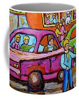 Orange Julep Roadside Attraction Fast Food Drive-in Diner Car Service Skater Girl C Spandau Montreal Coffee Mug