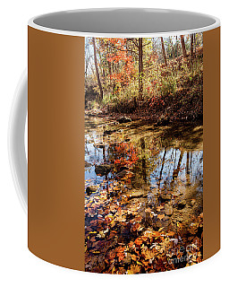 Orange Leaves Coffee Mug by Iris Greenwell