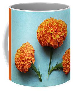 Orange Marigolds- By Linda Woods Coffee Mug