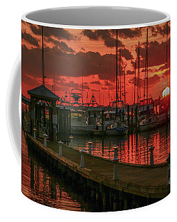 Orange Marina Sunrise Coffee Mug