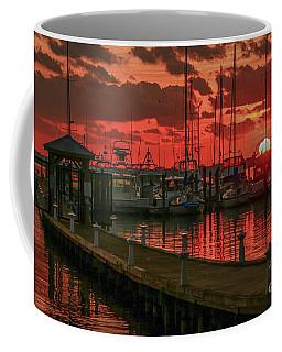 Orange Marina Sunrise Coffee Mug by Tom Claud