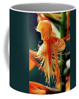 Coffee Mug featuring the photograph Fringed Orange Orchid by Meta Gatschenberger