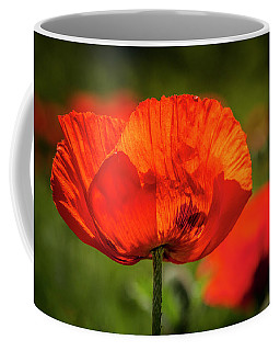 Orange Poppy Bloom Coffee Mug
