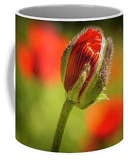 Orange Poppy Bud Coffee Mug