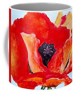 Orange Poppy Coffee Mug by Jamie Frier
