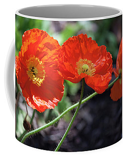 Orange Poppy Triplet Coffee Mug