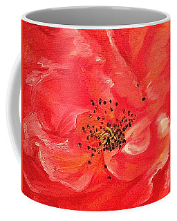 Orange Rose Coffee Mug by Sheron Petrie