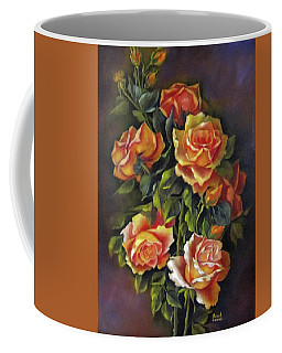 Orange Roses Coffee Mug by Katia Aho