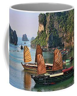 Orange Sails Asian Cruise Vietnam  Coffee Mug