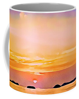 Orange Sky In Ixtapa, Mexico Coffee Mug