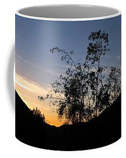 Orange Sky Nature Silhouette Coffee Mug