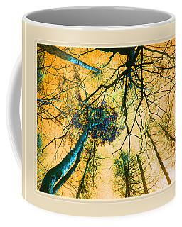 Coffee Mug featuring the photograph Orange Sky Tree Tops by Felipe Adan Lerma