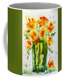 Coffee Mug featuring the painting Orange Splendor by Claire Bull