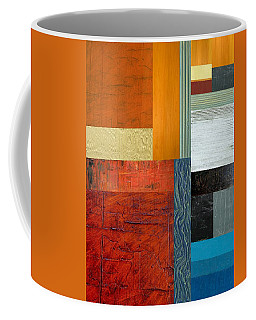 Coffee Mug featuring the painting Orange Study With Compliments 1.0 by Michelle Calkins