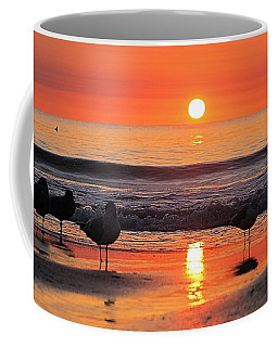 Coffee Mug featuring the photograph Orange Sunrise Shine by Robert Banach