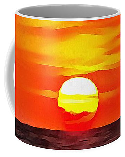 Coffee Mug featuring the painting Orange Sunset by Tracey Harrington-Simpson