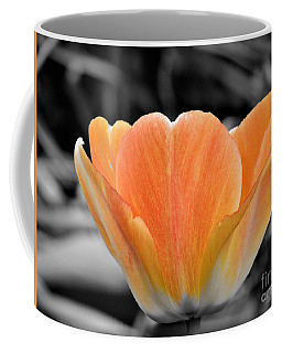 Orange Tea Cup Tulip Coffee Mug