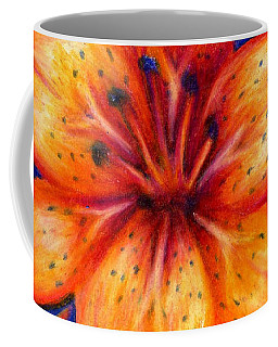 Orange Tiger Lily Drawing Coffee Mug