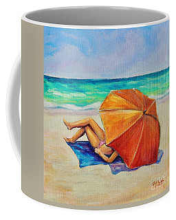 Orange Umbrella Coffee Mug