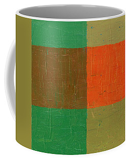 Orange With Brown And Teal Coffee Mug by Michelle Calkins
