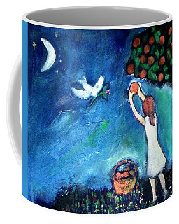 Coffee Mug featuring the painting Oranges Song by Winsome Gunning