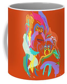 Orangutan Mom And Baby Coffee Mug