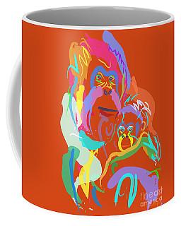 Orangutan Mom And Baby Coffee Mug by Go Van Kampen