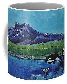 Orcas In Puget Sound Coffee Mug