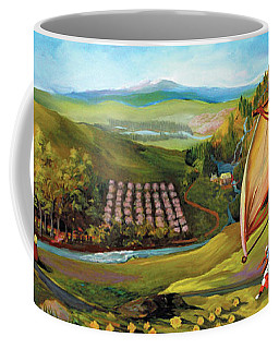 Coffee Mug featuring the painting Orchard Valley by Donna Hall