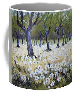Orchard With Dandelions Coffee Mug