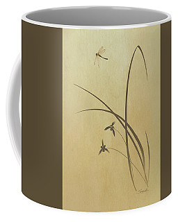 Orchid And Dragonfly Coffee Mug