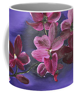 Orchid Blossoms On A Stem Coffee Mug