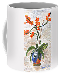 Coffee Mug featuring the painting Orchid by Jamie Frier
