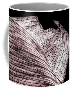 Orchid Leaf Macro Coffee Mug