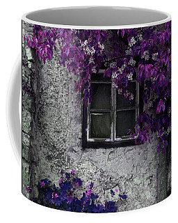 Orchid Vines Window And Gray Stone Coffee Mug by Brooke T Ryan