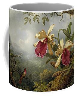 Orchids And Hummingbird Coffee Mug