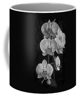Orchids - Black And White Coffee Mug