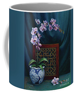 Orchids In A Chinese Pot Coffee Mug