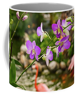 Coffee Mug featuring the photograph Orchids In Paradise by Nicole Lloyd