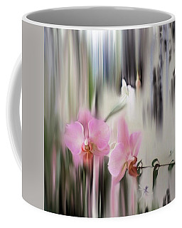 Orchids With Dragonflies Coffee Mug