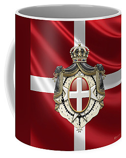 Order Of Malta Coat Of Arms Over Flag Coffee Mug