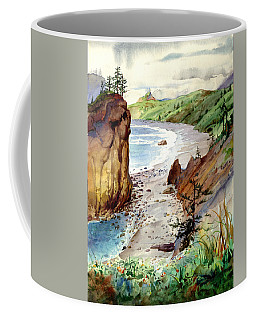 Coffee Mug featuring the painting Oregon Coast #3 by John Norman Stewart