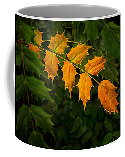 Coffee Mug featuring the photograph Oregon Grape Autumn by Mary Jo Allen