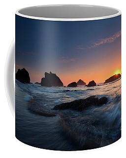 Coffee Mug featuring the photograph Oregon Islands Sunset by Mike Dawson