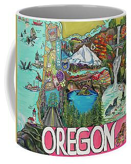 Oregon Map Coffee Mug